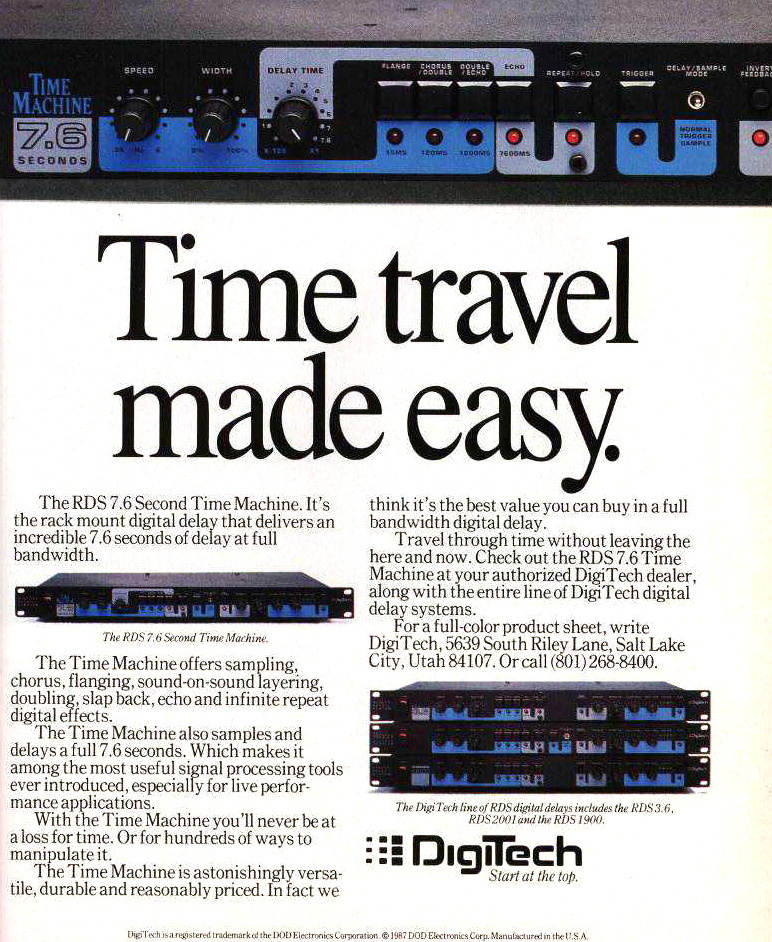 digitech time machine advert